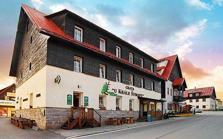 3–5denní pobyt na Šumavě v hotelu Chata U Krále Šumavy pro 2 osoby s polopenzí