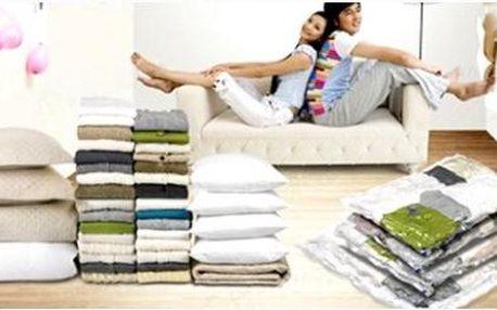 Čtyři kusy vakuových pytlů 70x100 pro pohodlné skladování za neuvěřitelnou cenu! Pytle vám ušetří spoustu místa!