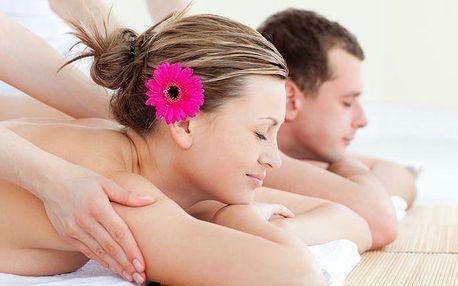 Romantická masáž pro dva na 60 nebo 90 minut v salonu VIP masáže v Praze