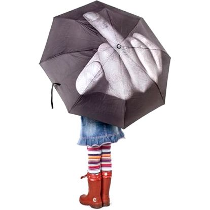 "Deštník ""Fuck the rain"""