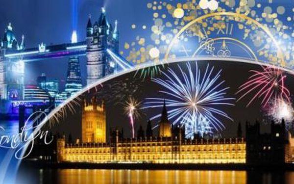 Silvestr s ohňostrojem nad Temží! Londýn na 4 dny pro 1 osobu včetně ubytování na 1 noc, snídaně, průvodce a dopravy!