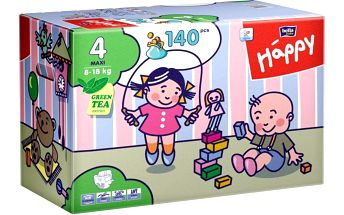Bella Happy Maxi Big Pack - 140 ks - II. jakost