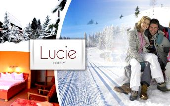 Rodinný pobyt pro 4 osoby (2 dospělí + 2 děti) na 3 dny se snídaní v šumavském horském Hotelu Lucie** s překrásným výhledem na předhůří centrální Šumavy. Skvělé vyžití pro dospělé i děti, 30% sleva na půjčovnu lyží a lyžařskou školu nebo 50% sleva na zapů