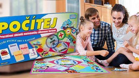 Naučná desková hra Počítej - matematické úlohy a zábava pro celou rodinu! Možnost osobního odběru v Praze.