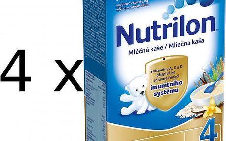 Nutrilon Mléčná kaše vanilková - 4 x 225g - II. jakost