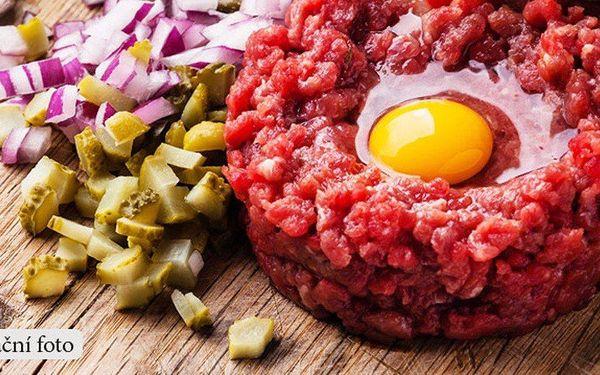 300g tatarský biftek a desatero topinek