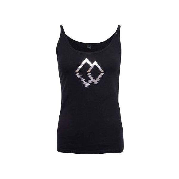 Černé dámské tílko se stříbrnými trojúhelníky ZOOT Originál