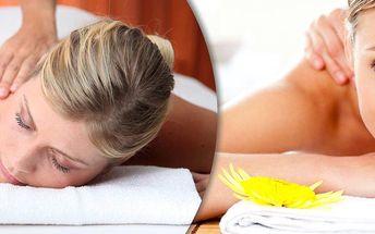 Výběr z pěti druhů masáží - relaxační, sportovní, rekondiční, zdravotní či lávovými kameny.