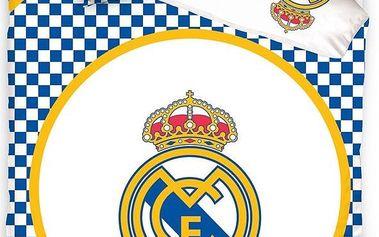 Tip Trade Bavlněné povlečení Real Madrid Circle, 140 x 200 cm, 70 x 80 cm