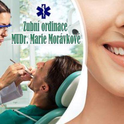 Dentální hygiena od 399 Kč, či domácí bělení zubů! Lze zakoupit i kompletní balíček péče o zuby = hygiena + bělení.