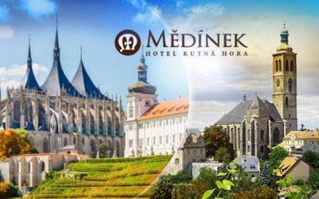 Kutná Hora, památka UNESCO! 3 dny pro dva se snídaněmi, obědem v galerii a prohlídkou s průvodcem!