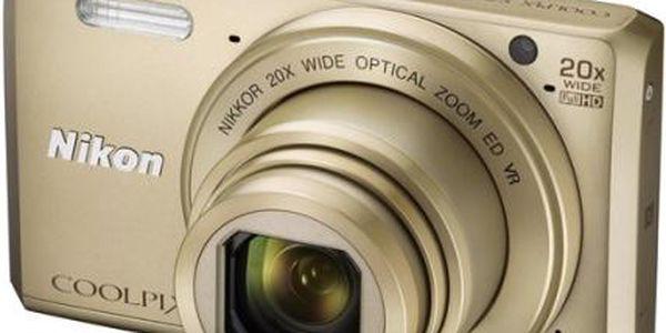 Digitální fotoaparát Nikon Coolpix S7000 + pouzdro zlatý + DOPRAVA ZDARMA