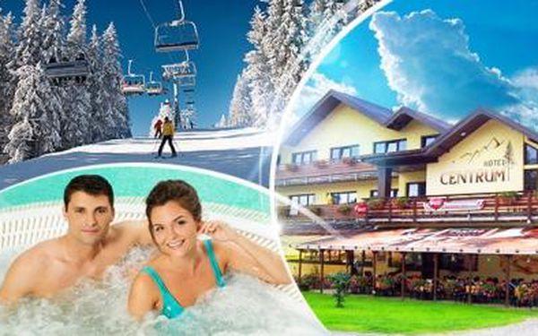 Krkonoše - Harrachov! 3denní wellness pobyt pro dva s polopenzí, bazénem, vířivkou a možností masáže!