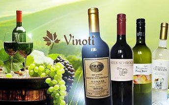 Exkluzivní zahraniční vína. Kolekce 3 bílých nebo 3 červených vín, či set 6 lahví obou odrůd o objemu 0,75l.