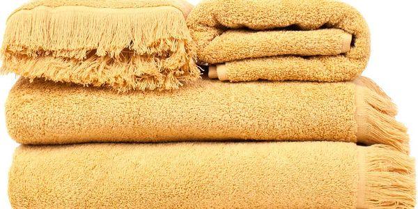 Set 2 žlutých bavlněných osušek a 2 ručníků Casa Di Bassi Sun - doprava zdarma!