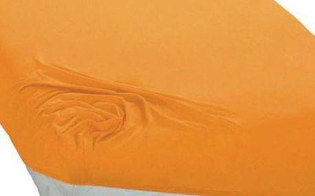 BedTex jersey prostěradlo žlutá, 90 x 200 cm