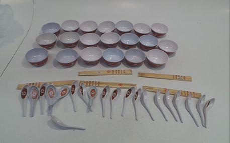 Set čínského nádobí TV products - misky, lžičky a hůlky