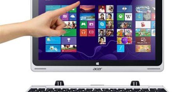 Dotykový tablet Acer Switch 10 (NT.L4SEC.003) stříbrný + DOPRAVA ZDARMA