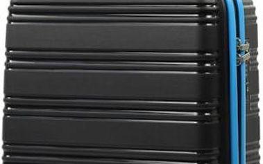 REAbags Cestovní kufr ROCK TR-0125/3-50 PP černá/modrá