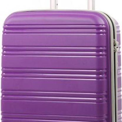 REAbags Cestovní kufr ROCK TR-0125/3-50 PP fialová