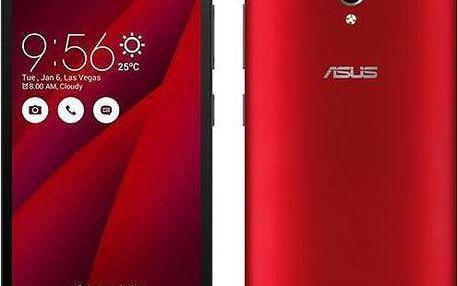 Asus ZenFone GO ZC500TG (ZC500TG-1C046WW) červený + + dárek Ochranná fólie ScreenShield fólie na displej + skin voucher pro Mobilní telefon Asus ZenFone GO ZC500TG + Doprava zdarma