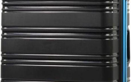 REAbags Cestovní kufr ROCK TR-0125/3-70 PP černá/modrá