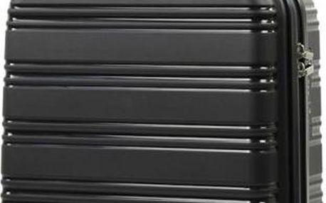 REAbags Cestovní kufr ROCK TR-0125/3-50 PP černá
