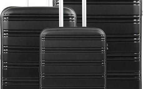 REAbags Cestovní kufry sada ROCK TR-0125/3 PP černá