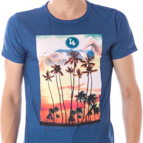 Pánské tričko Kariqu - Modrá / 2XL