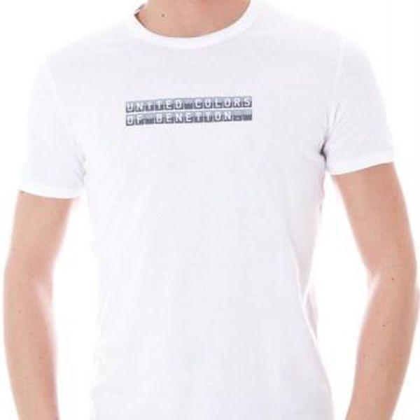 Pánské tričko Benetton vzor 2 - L / Bílá