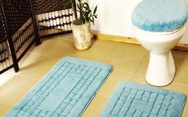 Euromat Sada koupelnových předložek Pearl modrá, 80 x 50 cm, 50 x 40 cm