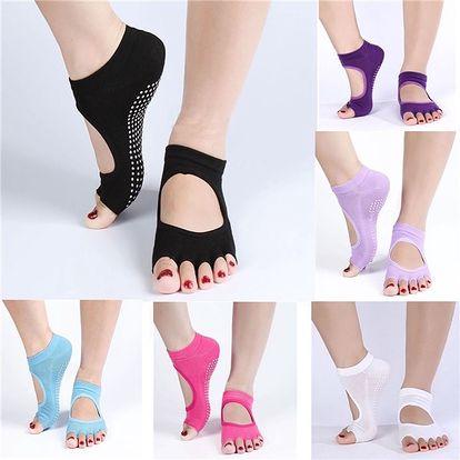 Kotníkové ponožky na jógu