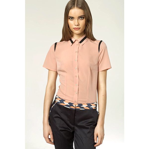 Dámská košile s krátkým rukávem Nife 27836 - růžová barva, velikost 40