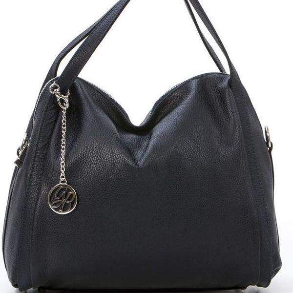 Kožená kabelka Riccardo, tmavě modrá - doprava zdarma!