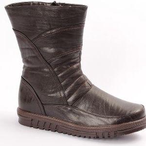 Pánské zateplené boty hnědé