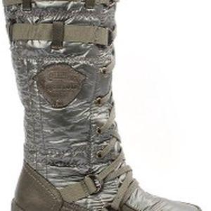 Dámské kozačky Comfort Fashion kovově šedá