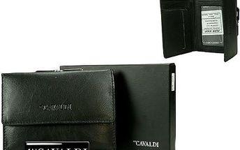 Dámská peněženka z pravé kůže CAVALDI Black