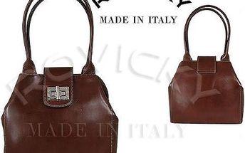Dámská kožená kabelka z pravé italské kůže hnědá