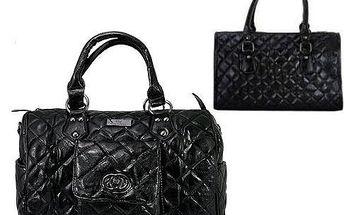 Dámská prošívaná kabelka CAVALDI černá