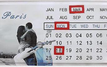 Plechový kalendář na zeď Paris