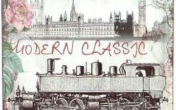 Dekorativní plechová cedule Train