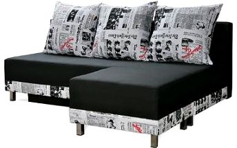 Moderní pohovka Enzo s velkým taburetem zdarma