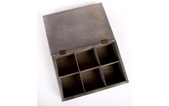 Dřevěná dekoratvní krabička na 6 čajů