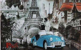 Plechová cedule na zeď Paris