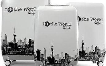 Sada cestovních kufrů s motivem World White