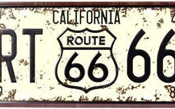 Dekorativní plechová cedule California