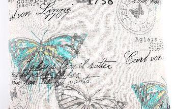 Potah na polštář s motýlem