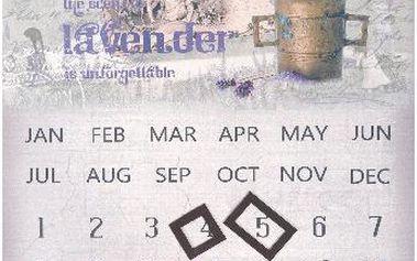 Nástěnný kalendář s obrázkem hmoždíře