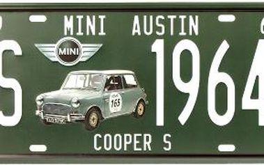 Dekorativní plechová cedule Mini Austin
