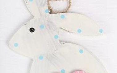 Dekorativní králík s růžovým srdcem